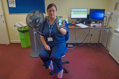 Marie Dickson, our fearless paramedic at Sturry Surgery